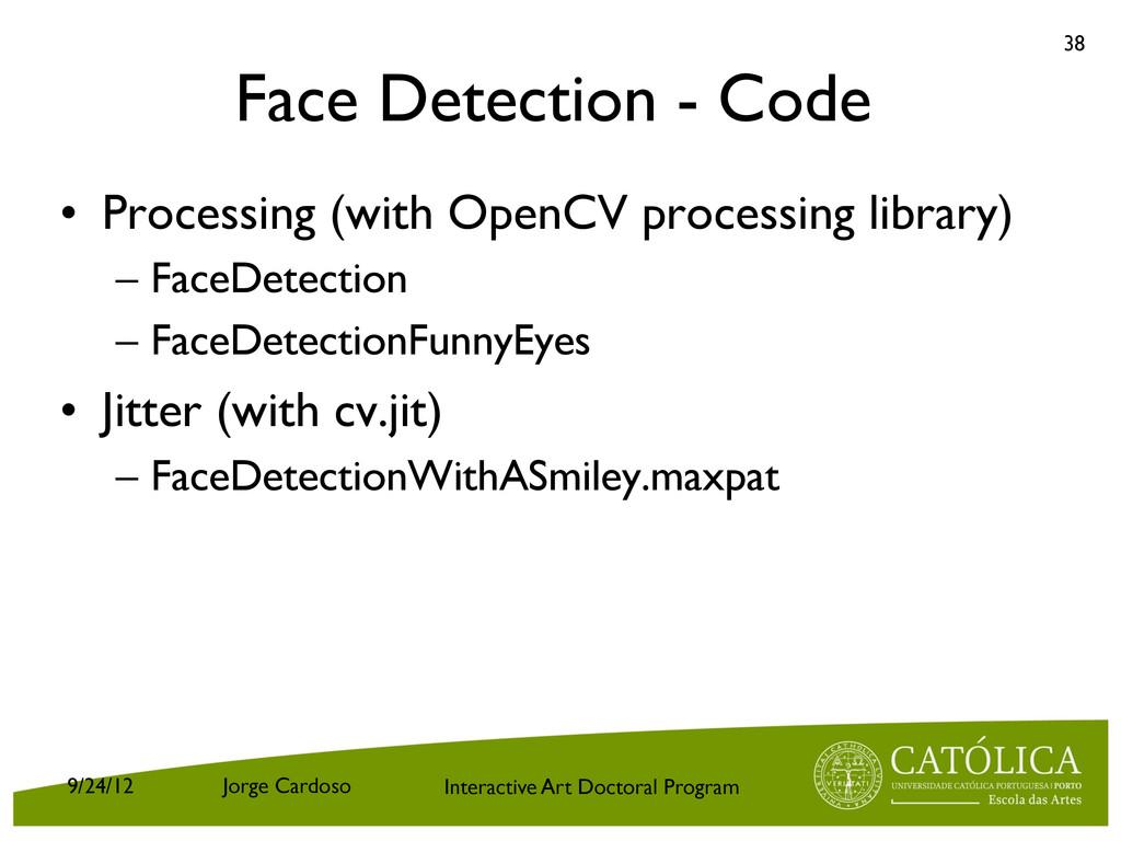 Interactive Art Doctoral Program Face Detection...