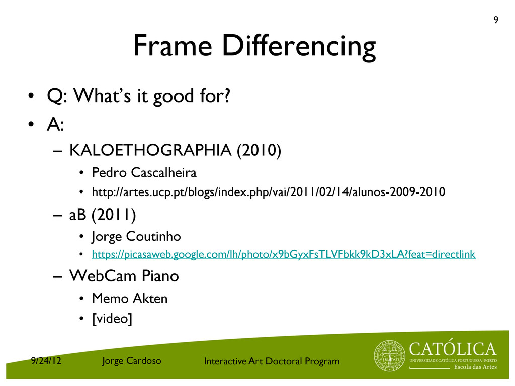 Interactive Art Doctoral Program Frame Differen...