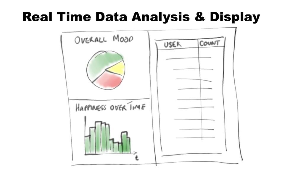 Real Time Data Analysis & Display