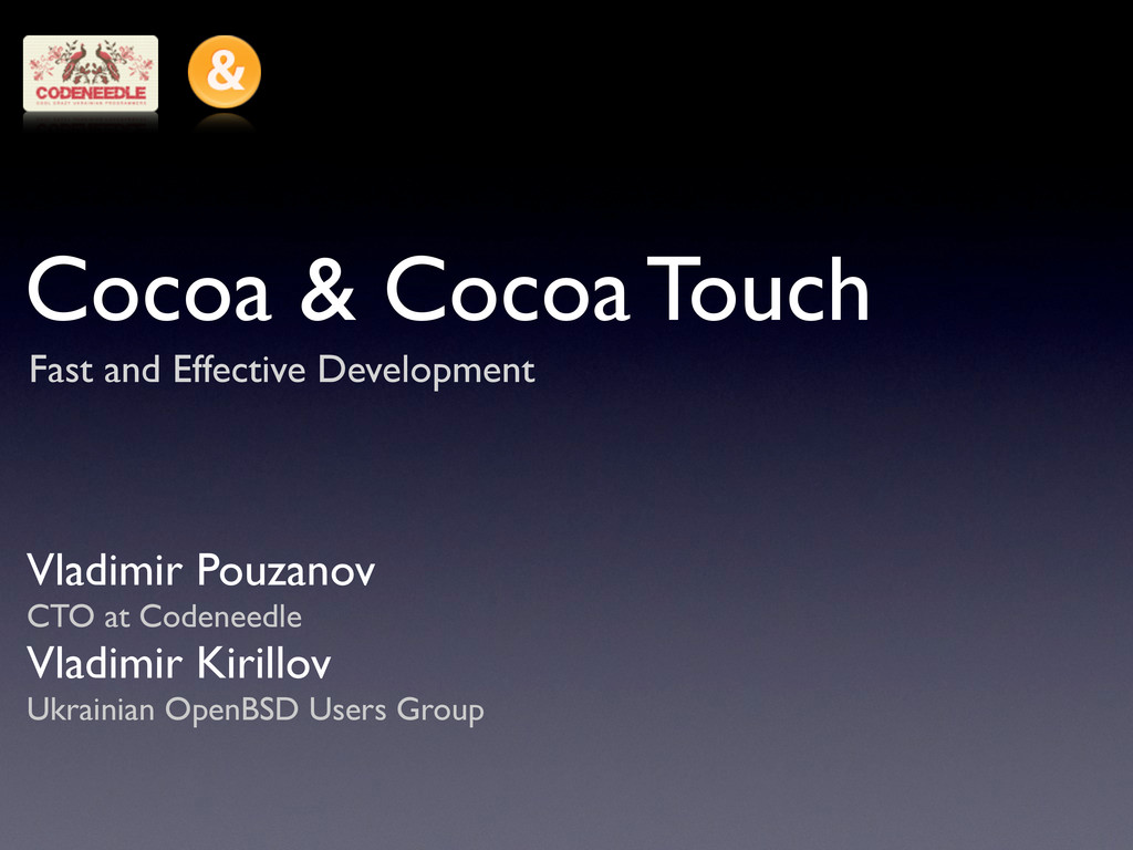 Cocoa & Cocoa Touch Fast and Effective Developm...