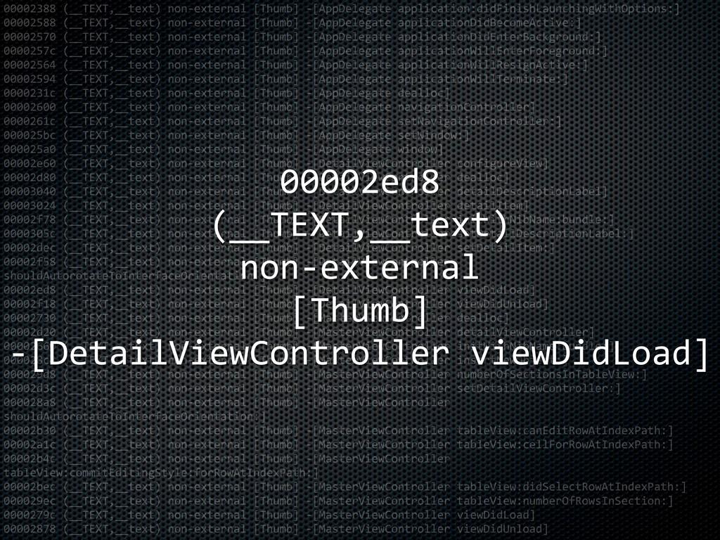 00002388 (__TEXT,__text) non-‐external [Thu...