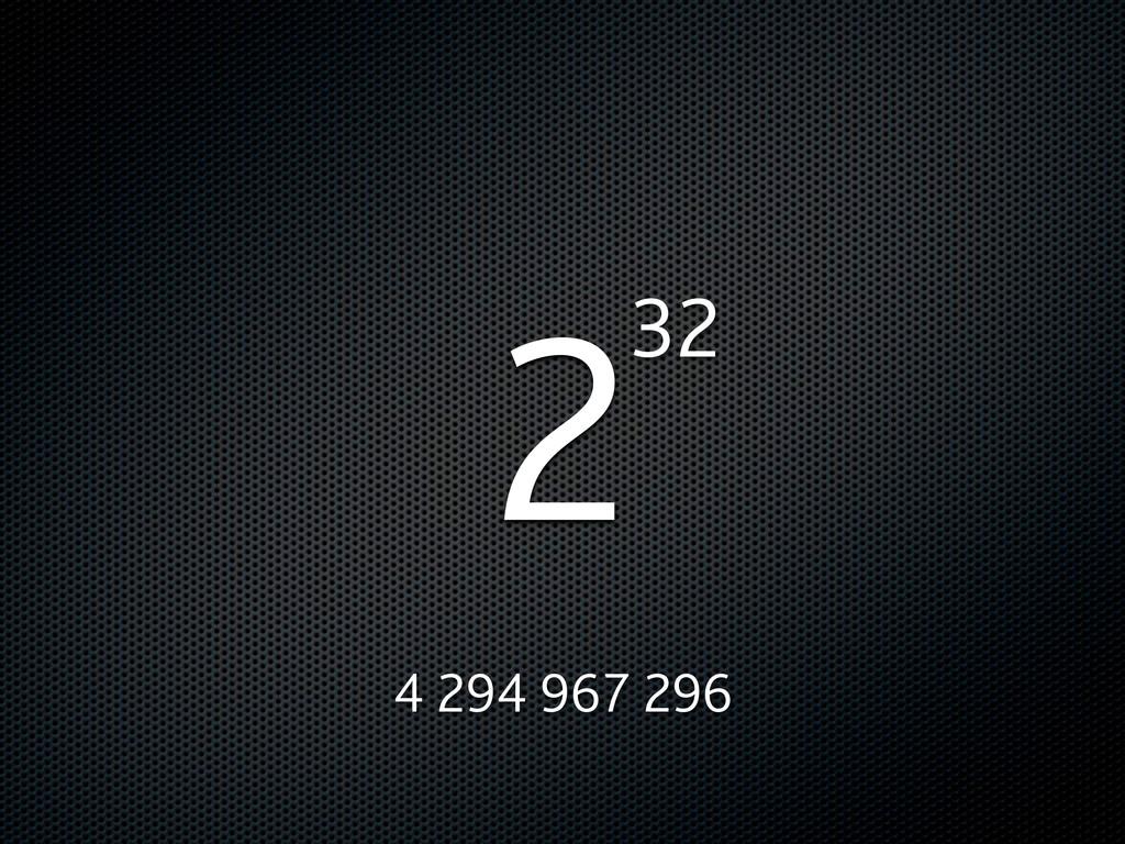 232 4 294 967 296