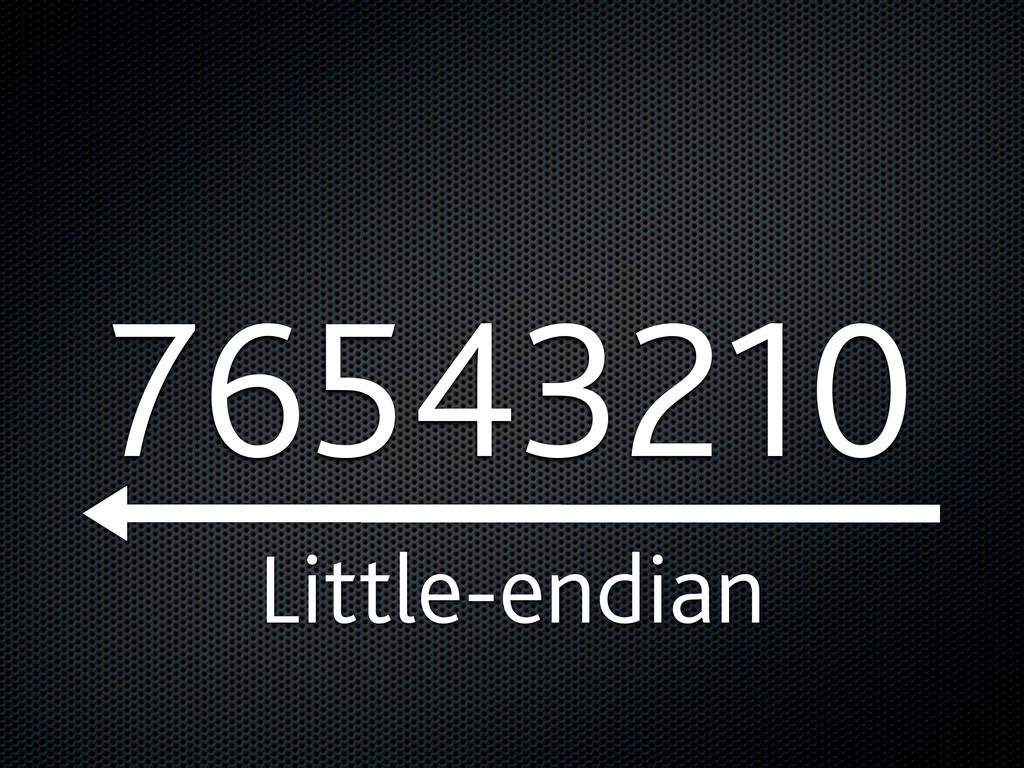 76543210 Little-endian