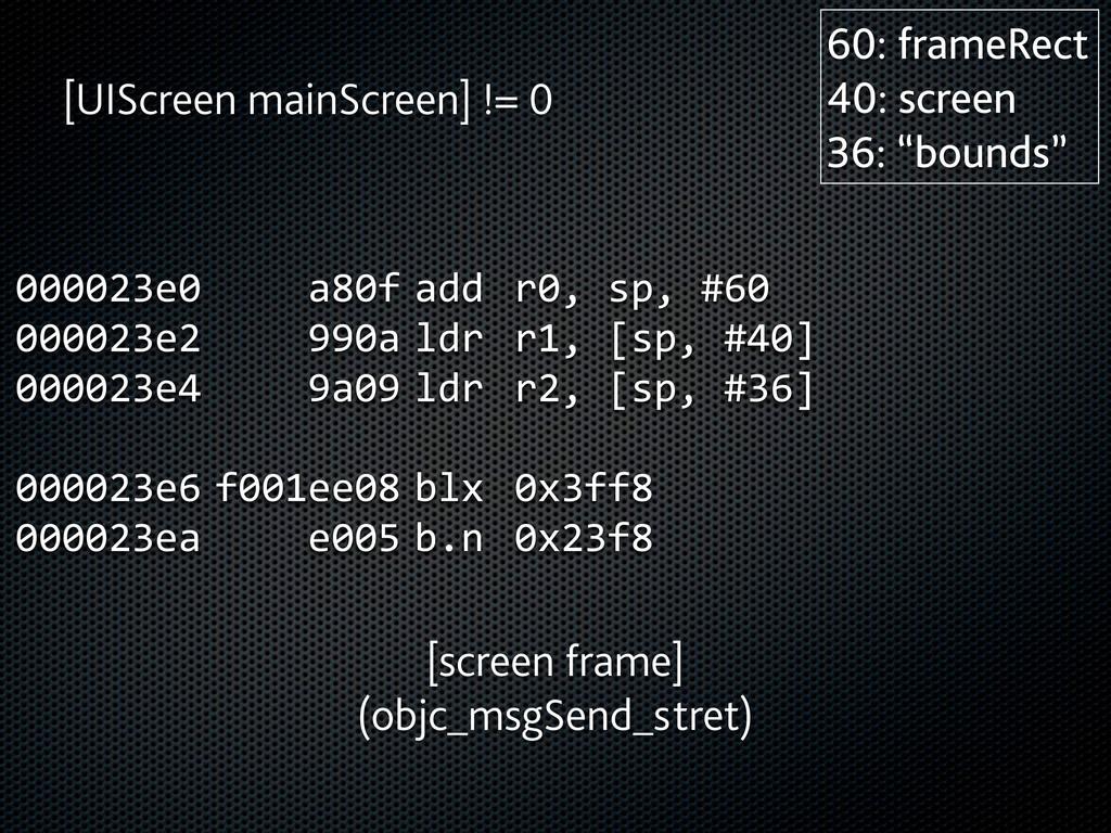000023e0      a80f  add  r0, sp, #60 0...