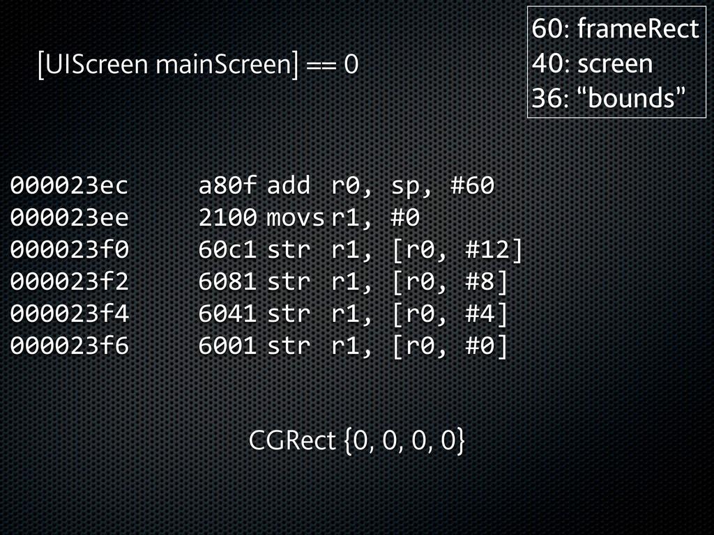 000023ec      a80f  add  r0, sp, #60 0...