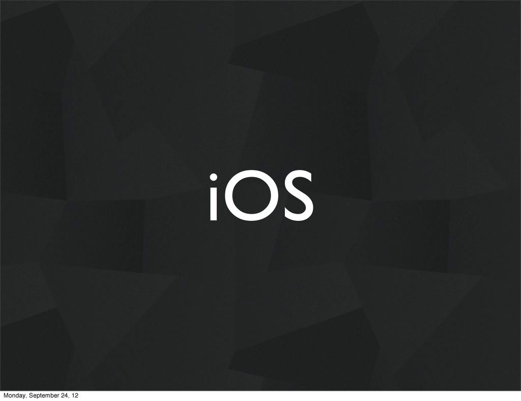 iOS Monday, September 24, 12
