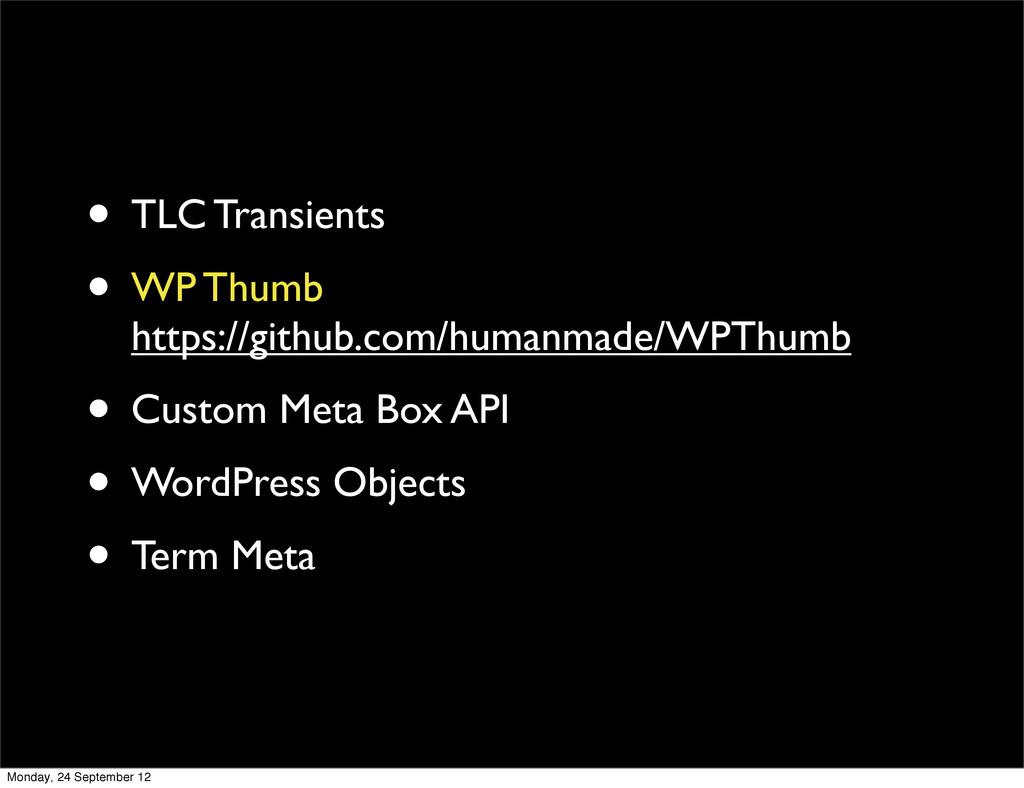 • TLC Transients • WP Thumb https://github.com/...