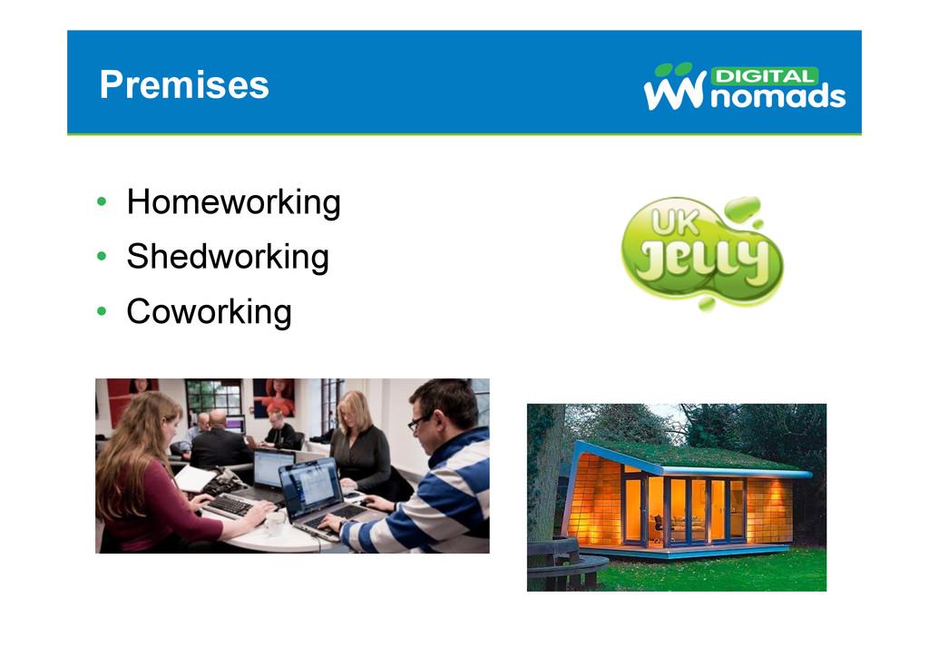 Premises • Homeworking • Shedworking • Cowor...