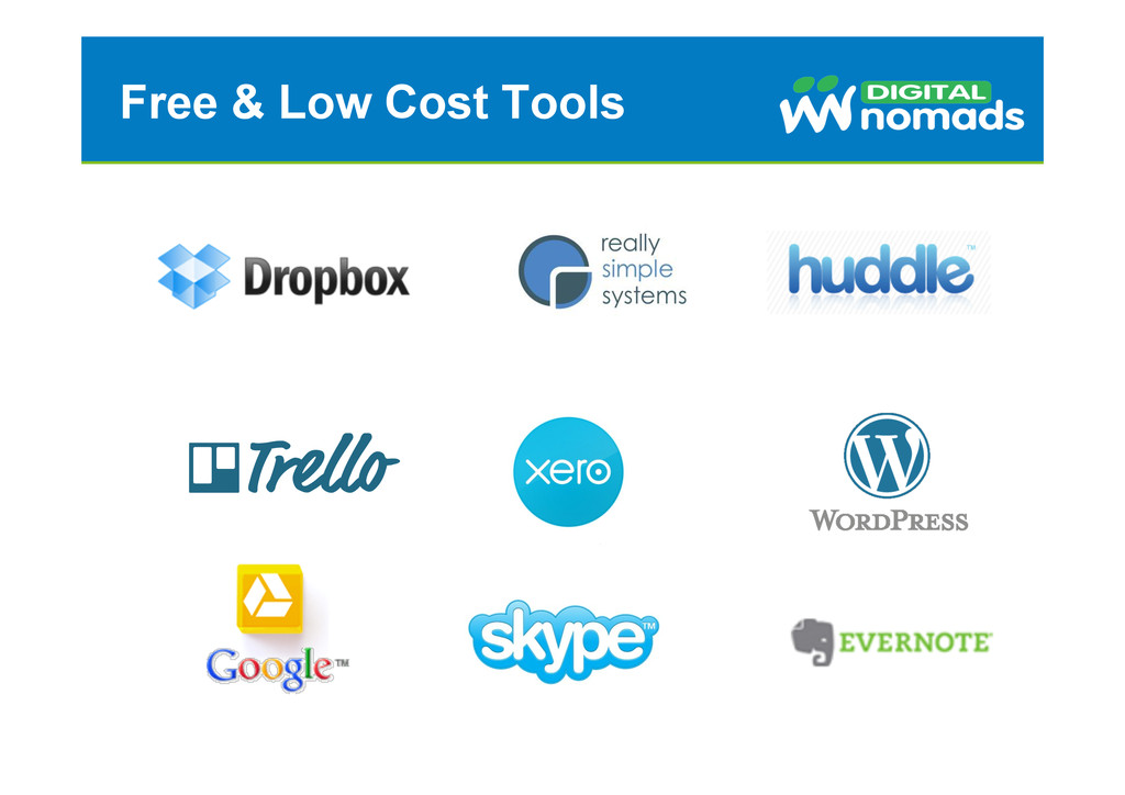 Free & Low Cost Tools