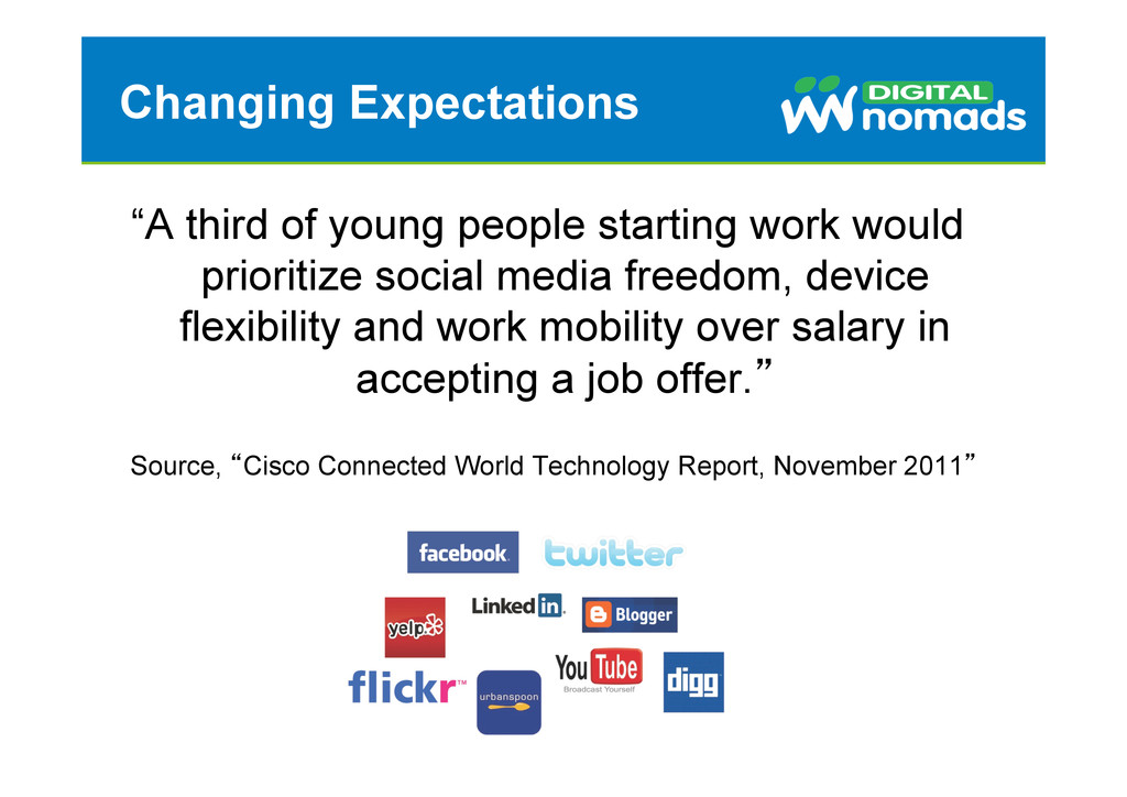 """Changing Expectations """"A third of young people ..."""
