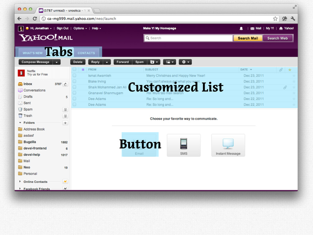 Customized List Button Tabs