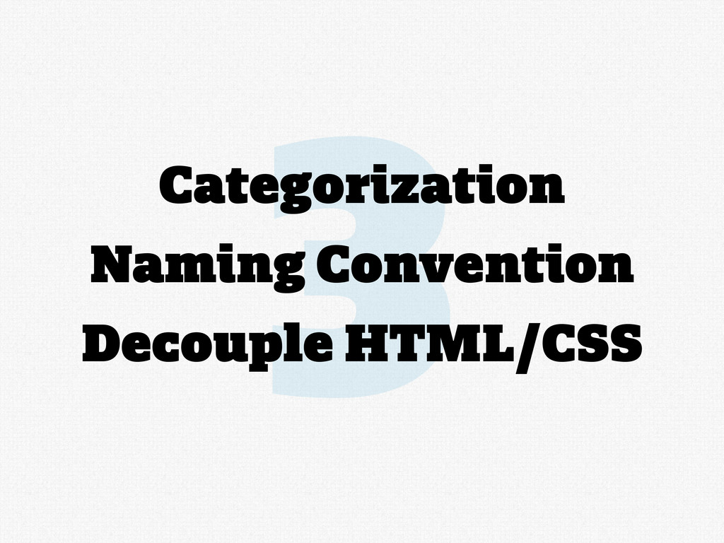 3 Categorization Naming Convention Decouple HTM...