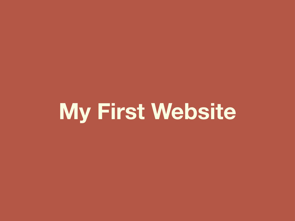 My First Website