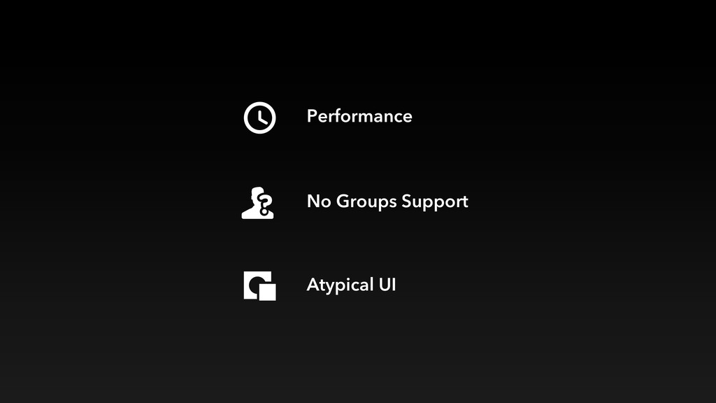 Performance No Groups Support Atypical UI