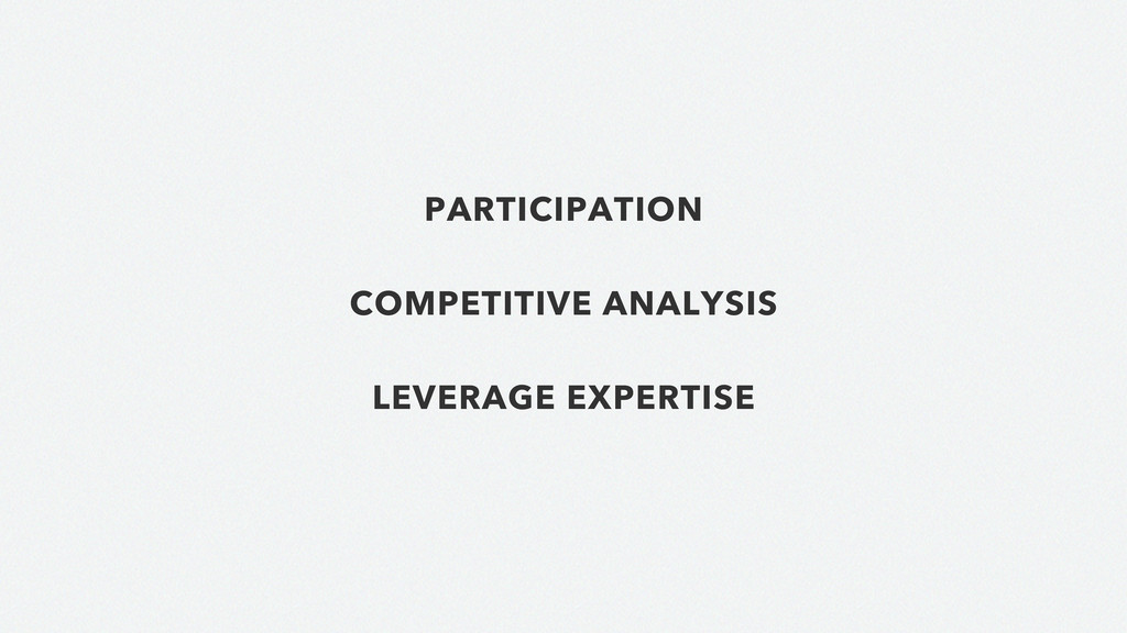 PARTICIPATION COMPETITIVE ANALYSIS LEVERAGE EXP...