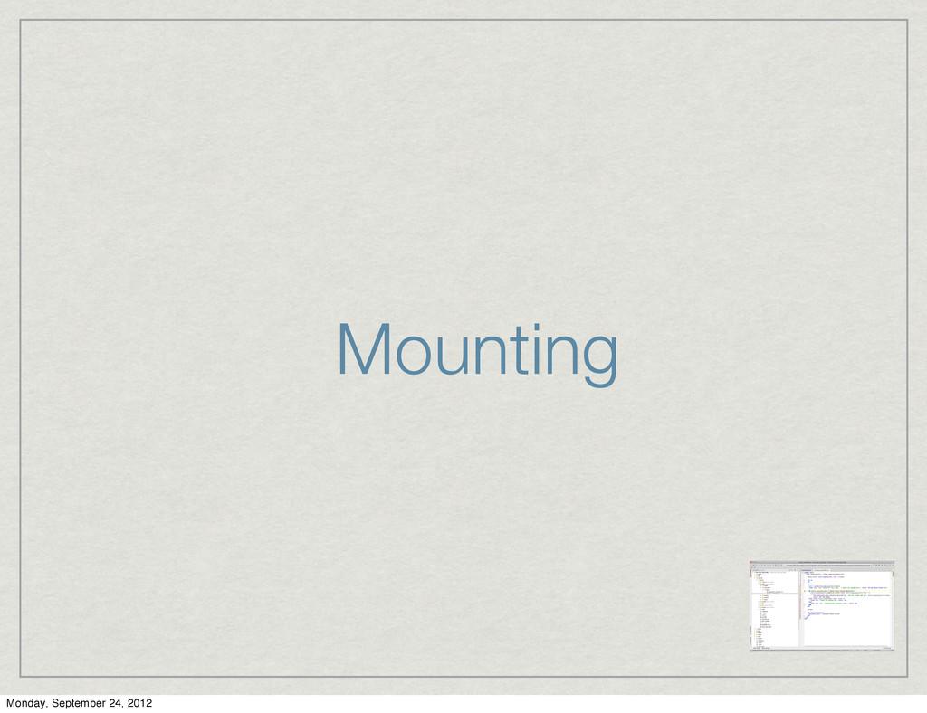 Mounting Monday, September 24, 2012