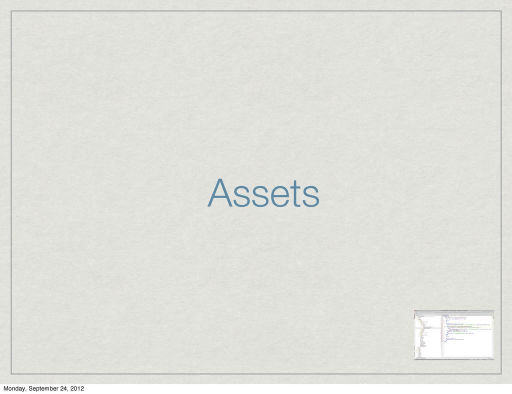 Assets Monday, September 24, 2012