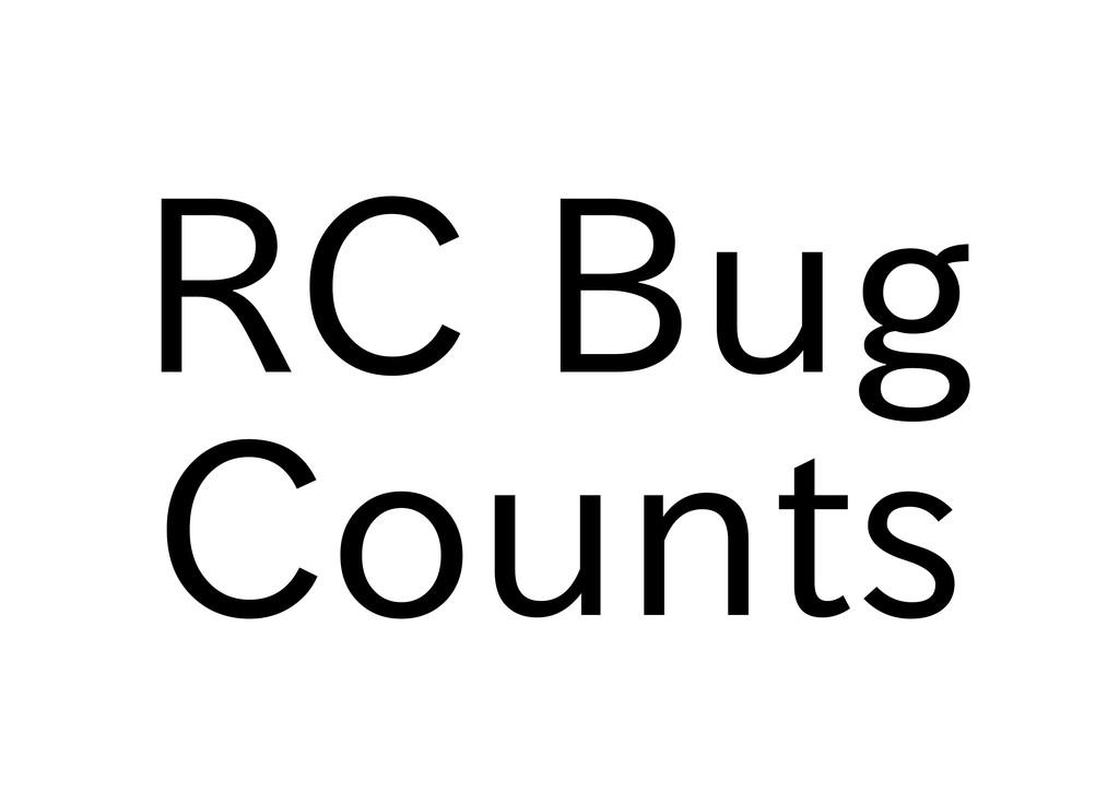RC Bug Counts