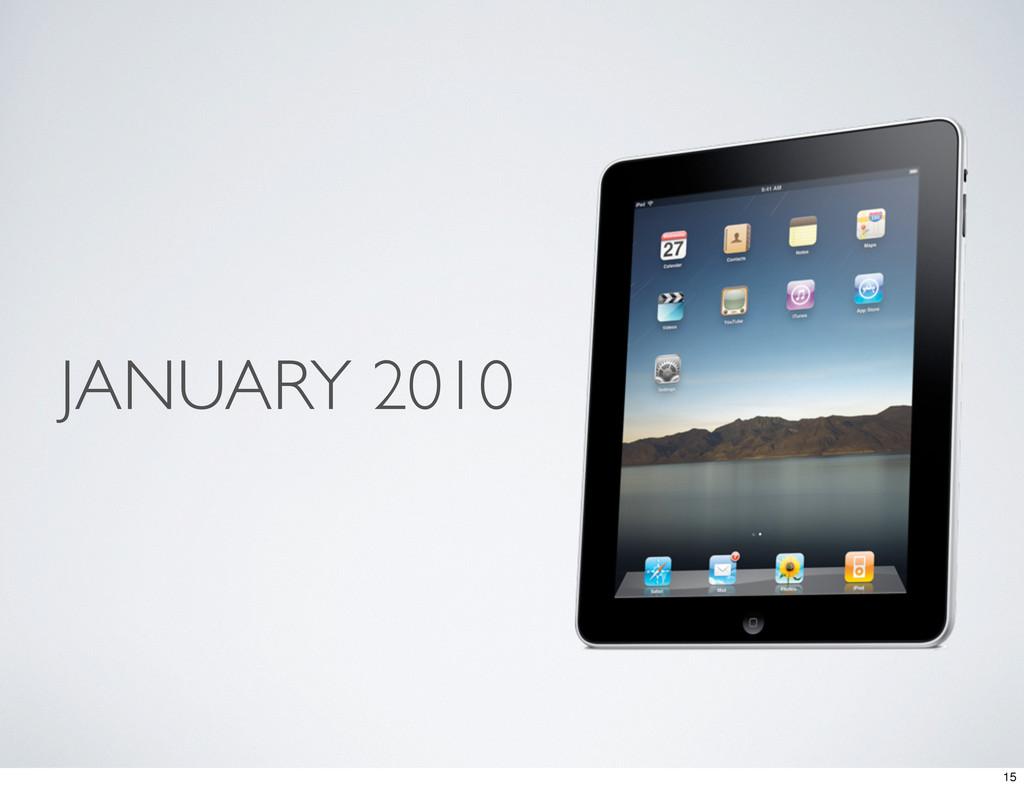 JANUARY 2010 15