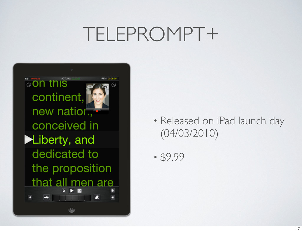 TELEPROMPT+ • Released on iPad launch day (04/0...