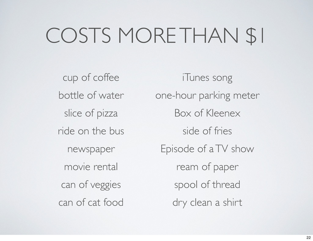 COSTS MORE THAN $1 cup of coffee iTunes song bo...