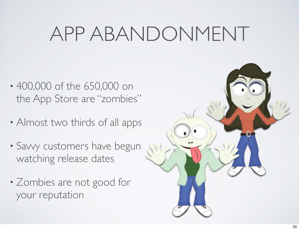 APP ABANDONMENT • 400,000 of the 650,000 on the...