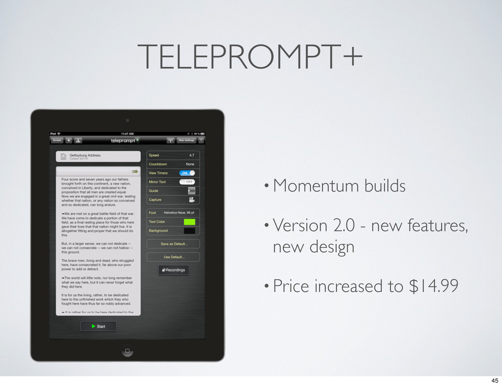 TELEPROMPT+ • Momentum builds • Version 2.0 - n...