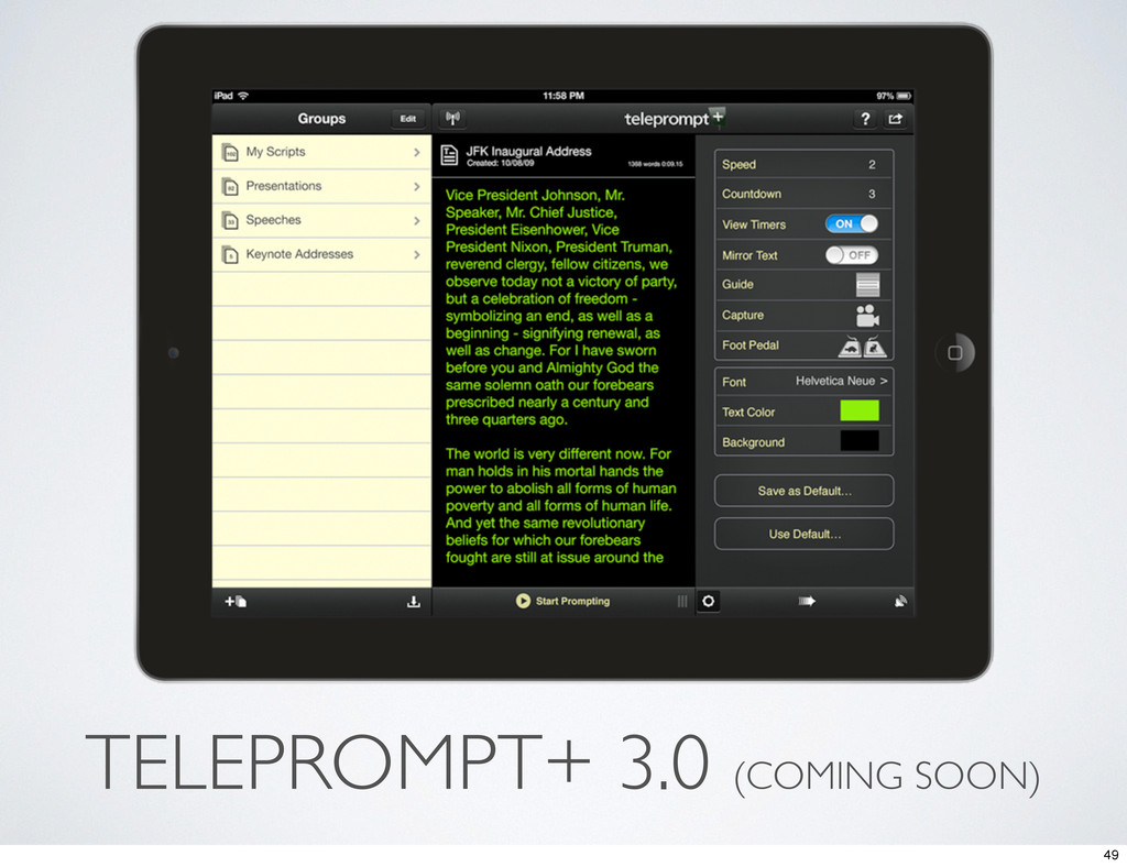 TELEPROMPT+ 3.0 (COMING SOON) 49