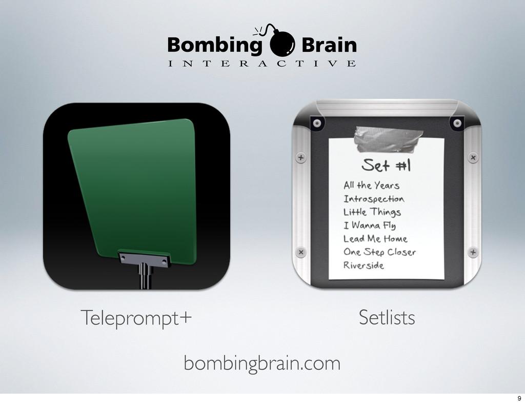 Teleprompt+ Setlists bombingbrain.com 9