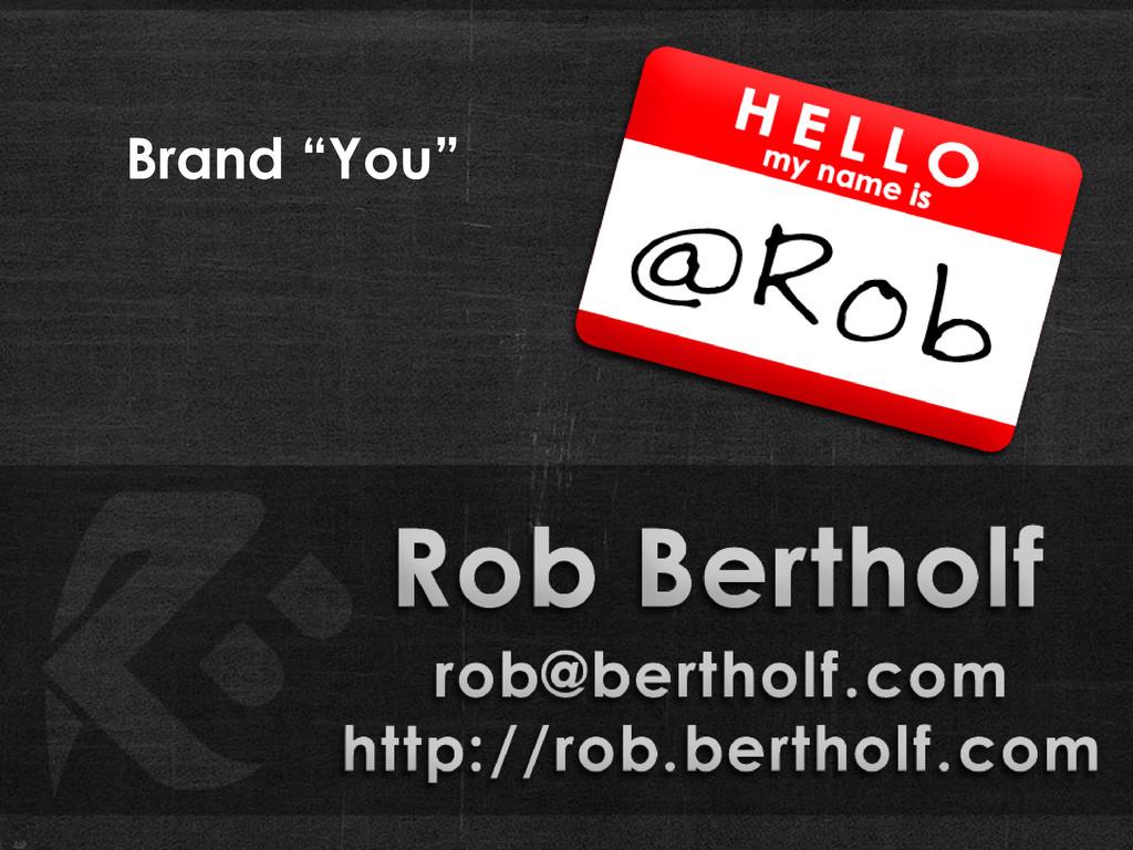 "Brand ""You"""