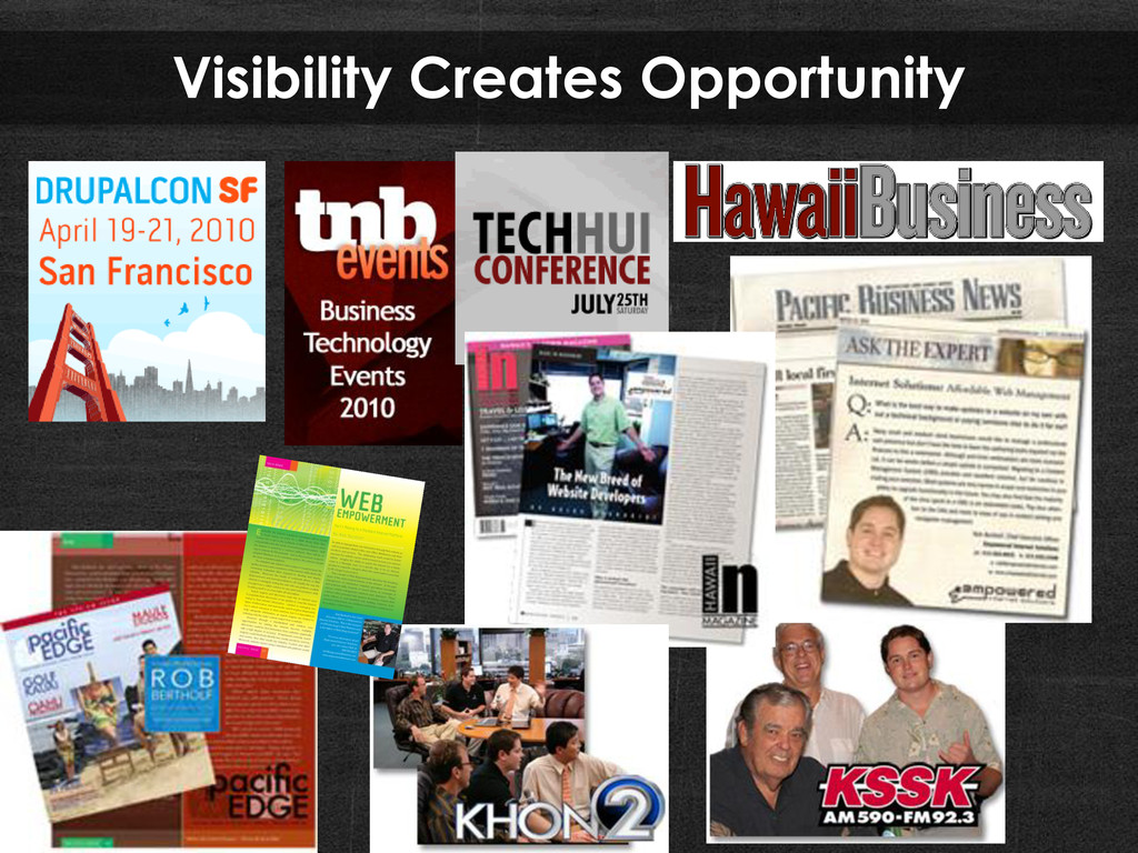 Visibility Creates Opportunity
