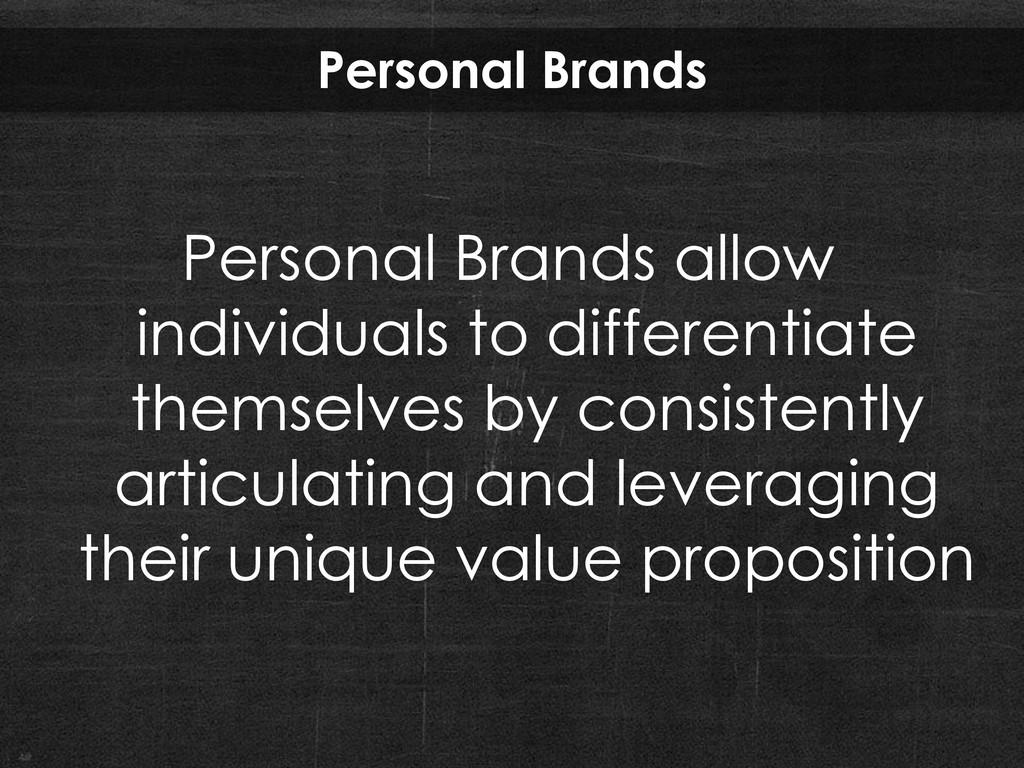 Personal Brands Personal Brands allow individua...