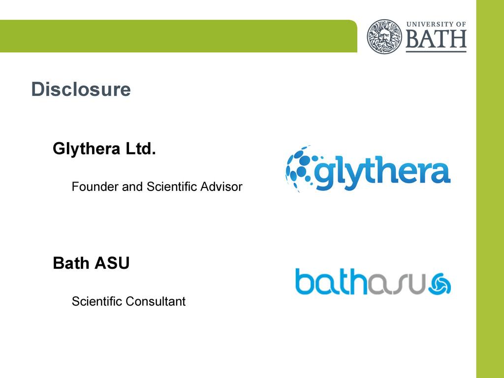Disclosure Glythera Ltd. Founder and Scientific...