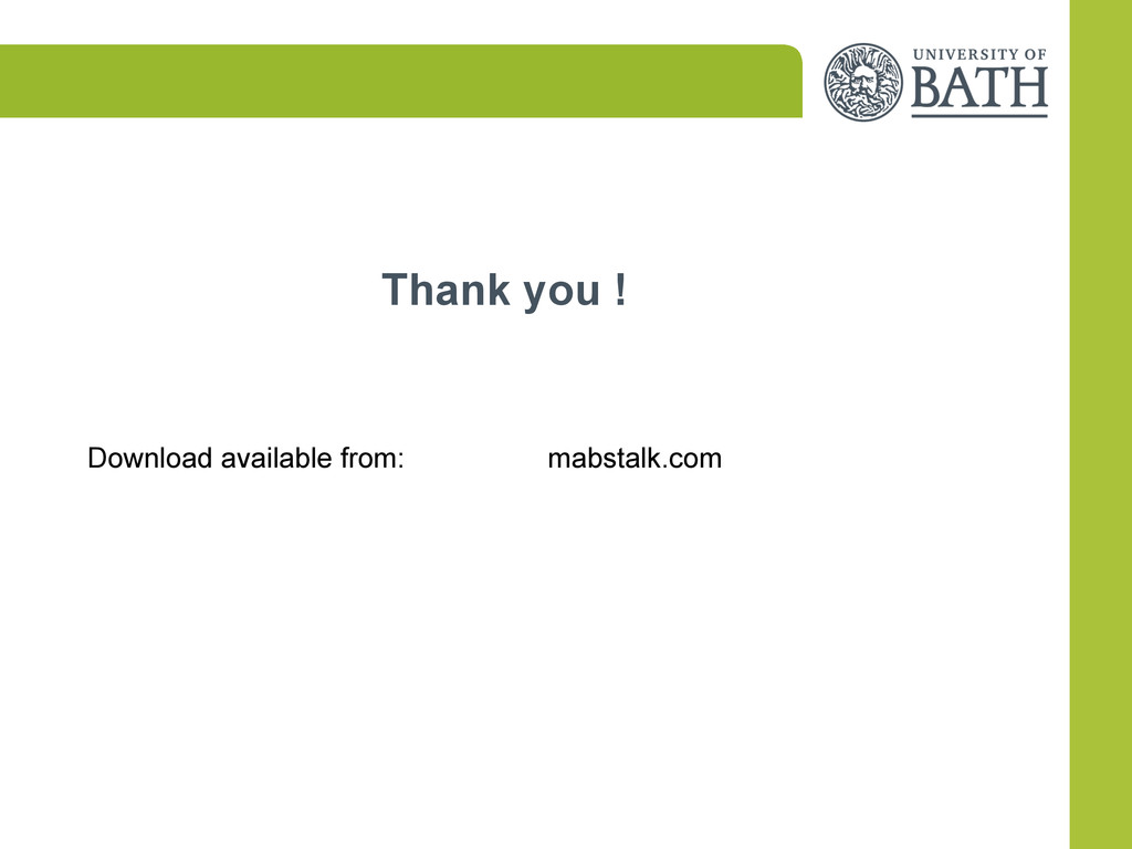 Thank you ! Download available from: mabstalk.c...
