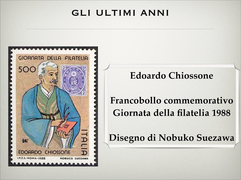 Edoardo Chiossone Francobollo commemorativo Gio...