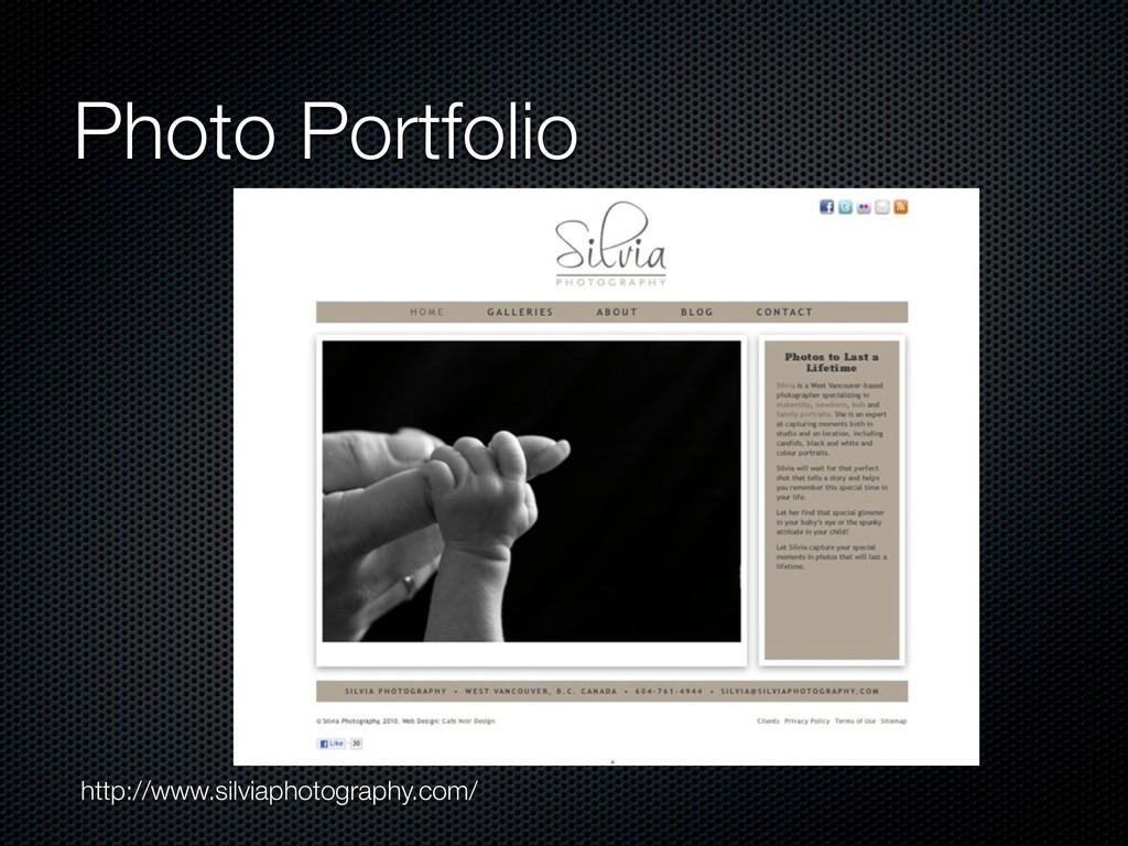 Photo Portfolio http://www.silviaphotography.co...