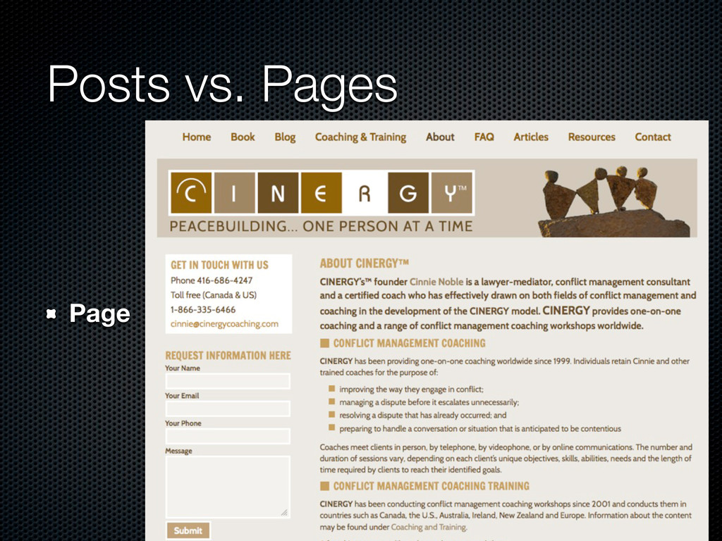 Posts vs. Pages Page