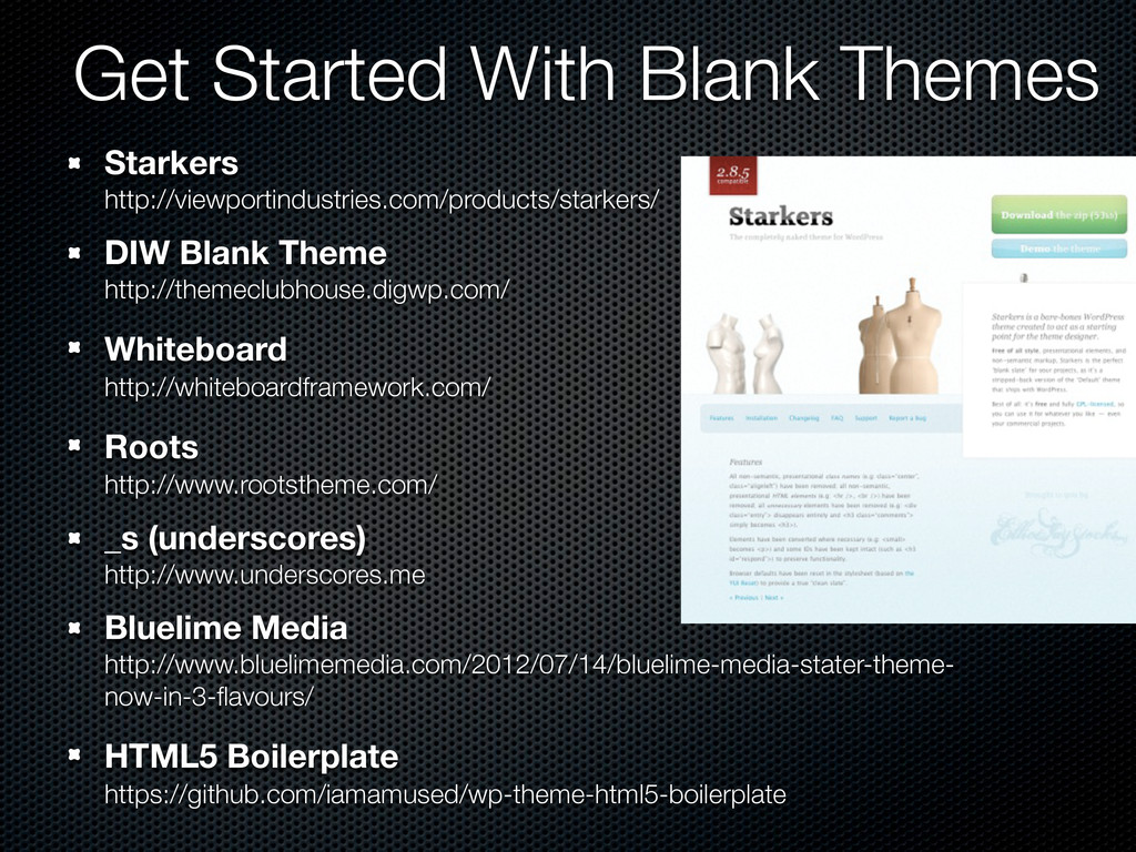 Get Started With Blank Themes Starkers http://v...