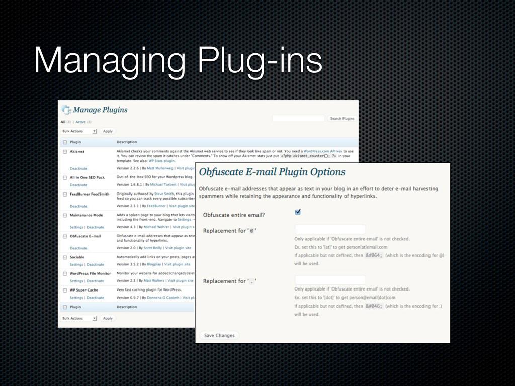 Managing Plug-ins
