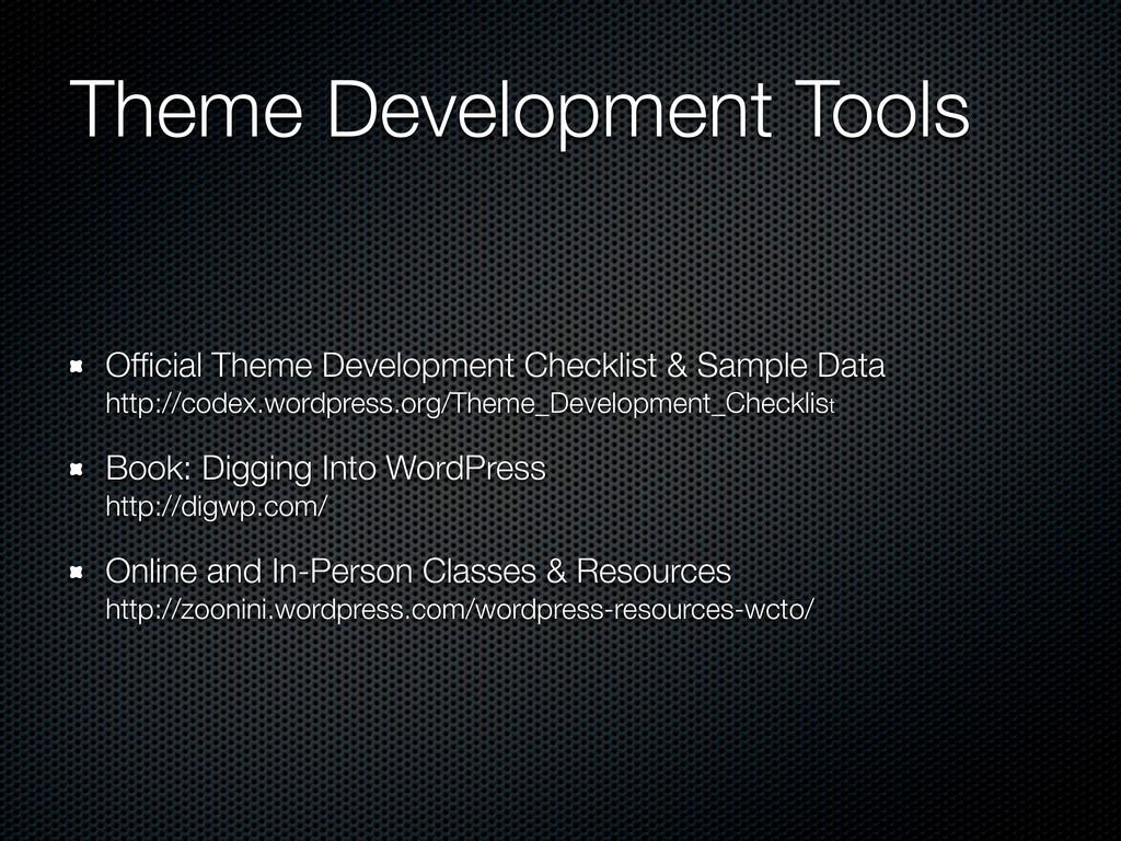 Theme Development Tools Official Theme Developme...