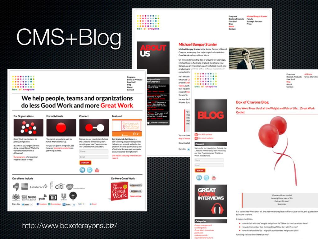 CMS+Blog http://www.boxofcrayons.biz/