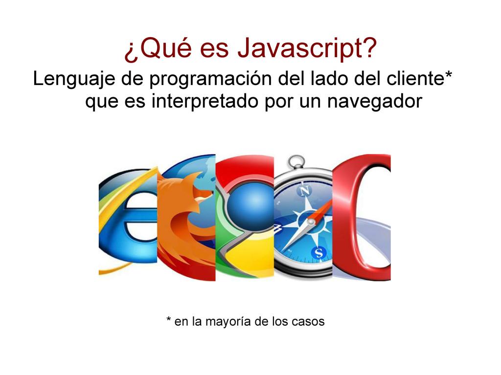 ¿Qué es Javascript? Lenguaje de programación de...