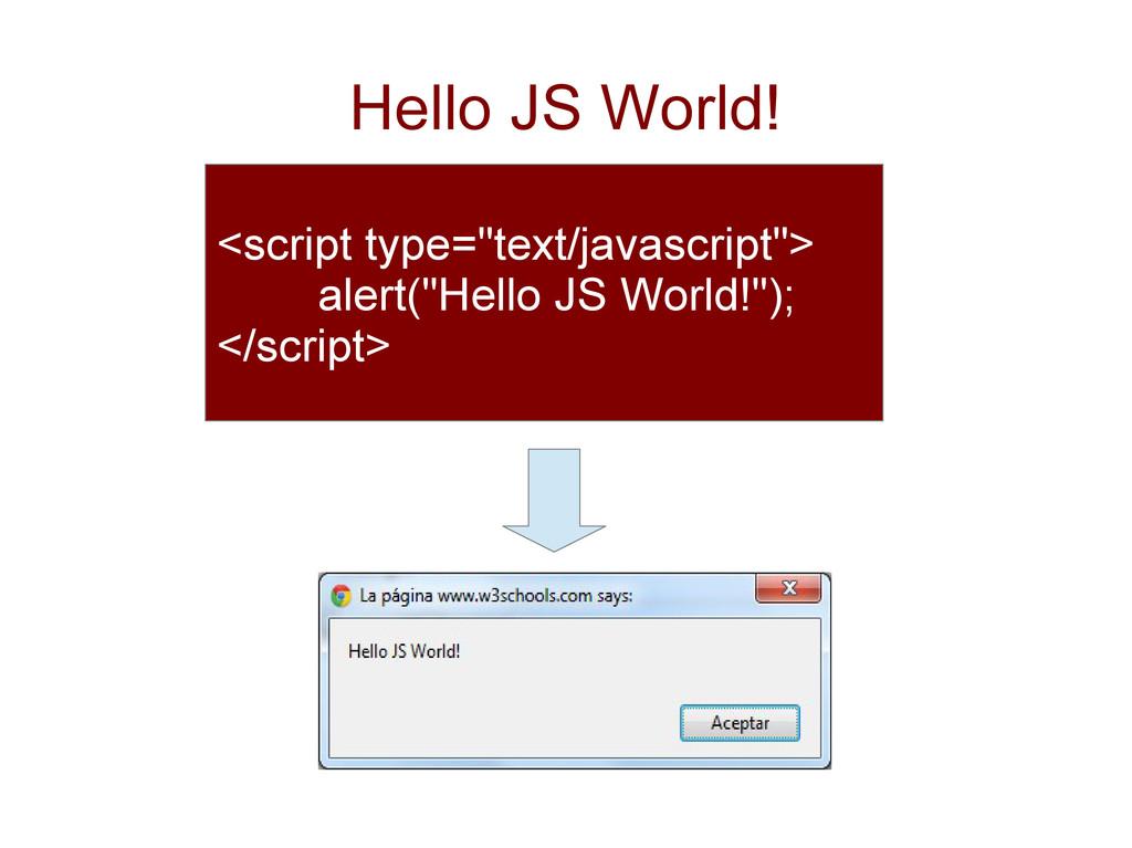 "Hello JS World! <script type=""text/javascript"">..."