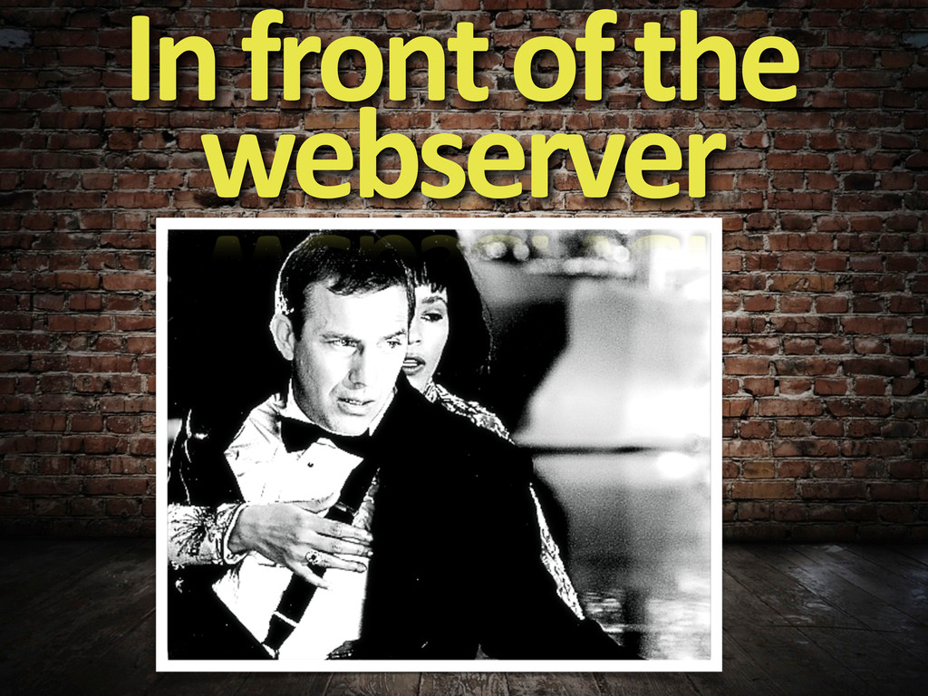 In front of the  webserver