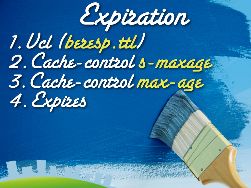 Expiration 1.Vcl (beresp.ttl) 2.Cache-control s...