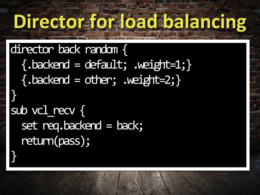 Director for load balancing director...