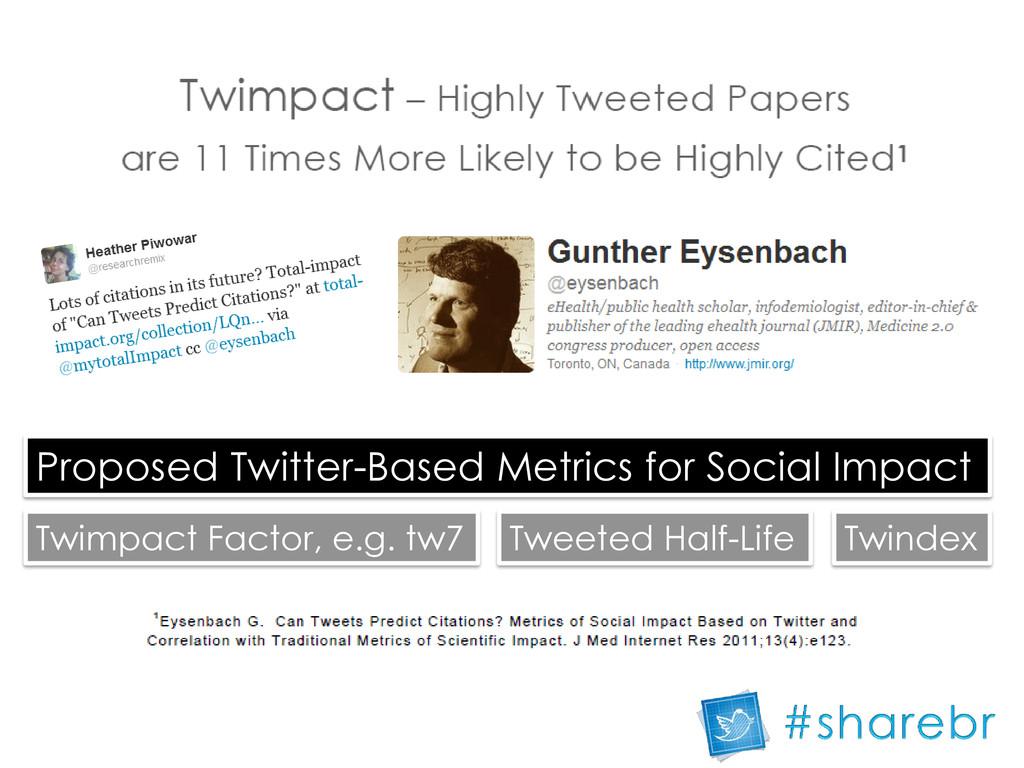 Proposed Twitter-Based Metrics for Social Impac...