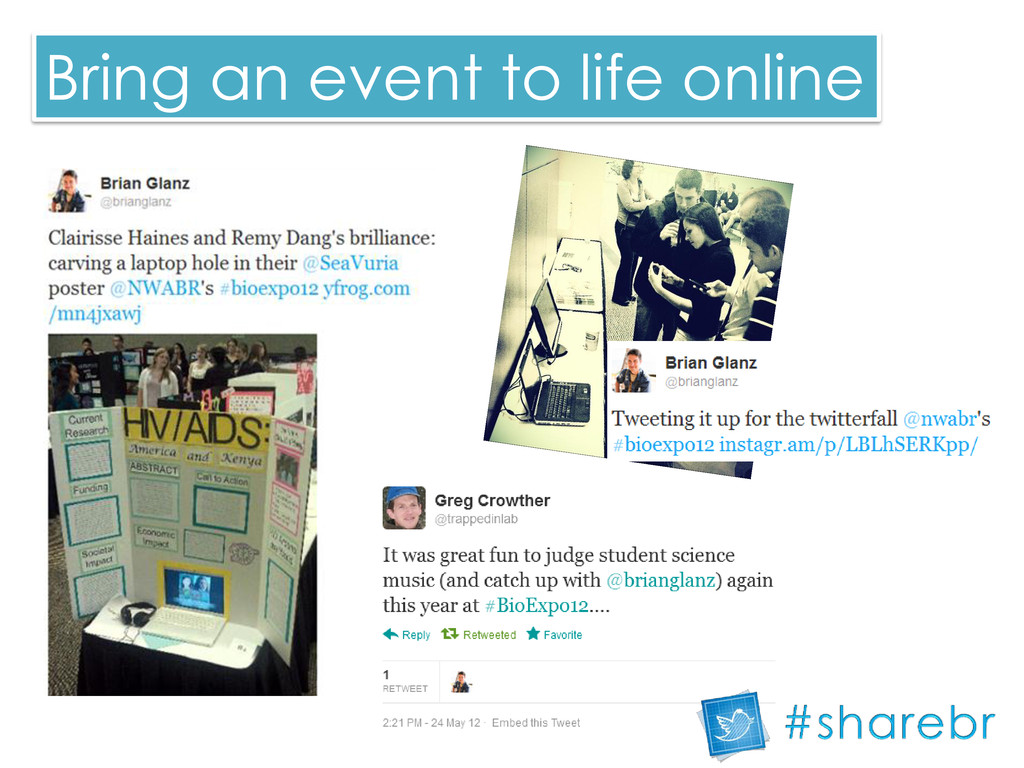 Bring an event to life online
