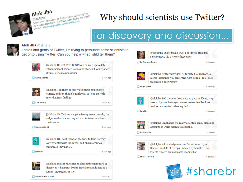 for discovery and discussion...
