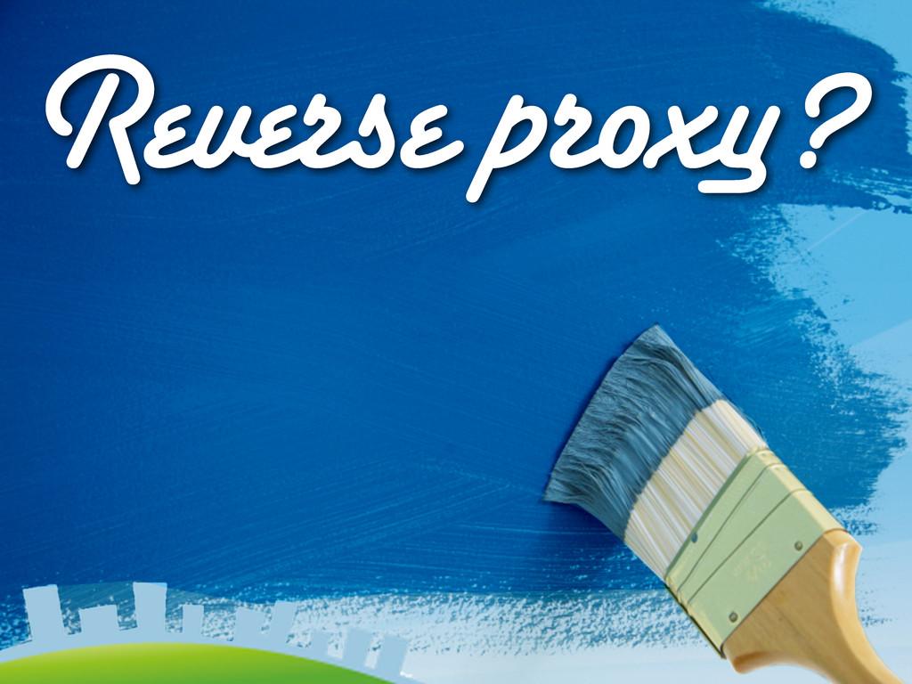Reverse proxy?